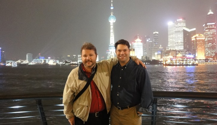 PAUL and ERIC at the BUND in Shanghai